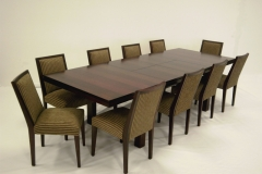 ZEN EXT. TABLE / AUBURN CHAIRS