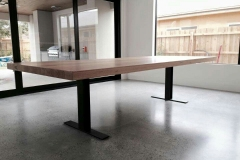 twin iron base table