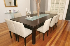 ZEN TABLE WITH GLASS INSERT AND KUDOS CHAIRS
